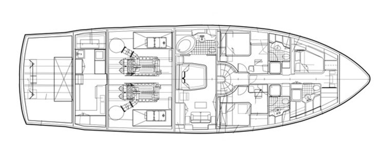 76 Foot Striker lower deck
