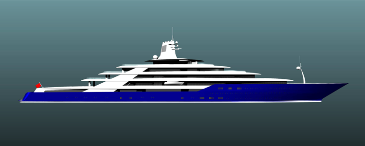 Computer Render of 200m Yacht